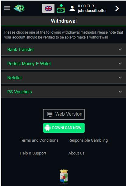 Canonbet Verification on Mobile